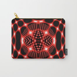 Neon red glob fractal Carry-All Pouch