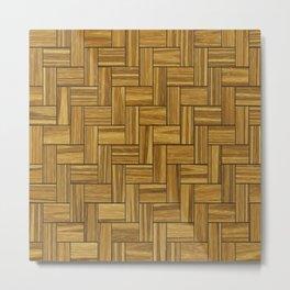 Wooded Zigzag Metal Print
