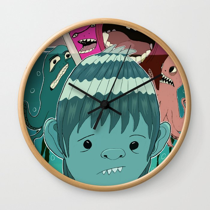 """Aquaboy"" by Kieran David Wall Clock"
