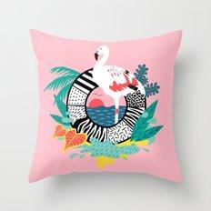 Flaming-oOO Throw Pillow