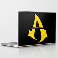 assassins creed Laptop & iPad Skins featuring Assassins Clan by HuckBlade