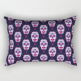 Sugar skull pattern. Mexican Day of the dead graphic. Rectangular Pillow