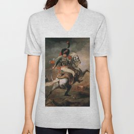 An Officer of the Imperial Horse Guards Charging Unisex V-Neck
