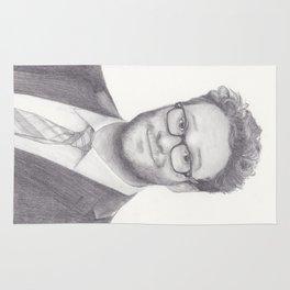 Seth Rogen Pencil drawing Rug