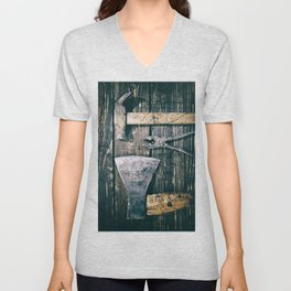 Old rusty tools Unisex V-Neck