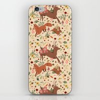 woodland iPhone & iPod Skins featuring Woodland by Sophie Eves