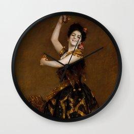 Carmencita by William Merritt Chase - Vintage Victorian Retro Fine Art Oil Painting Wall Clock