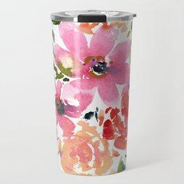 Pink and Purple Bouquet Travel Mug