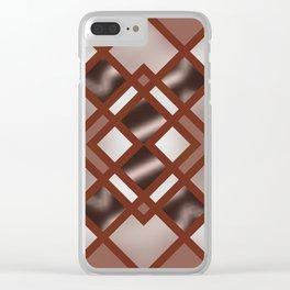 Rich Bronze Silver Geometrical Pattern Clear iPhone Case
