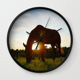 Farm Sunset Wall Clock