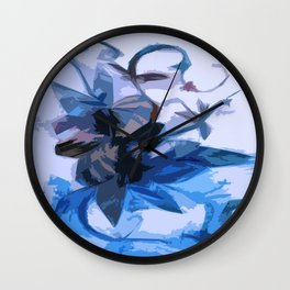 Winter Flowers in an Artic Storm Frozen in Time and Space Wall Clock