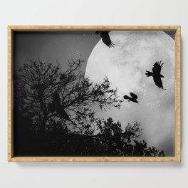 Haunting Moon & Trees Serving Tray