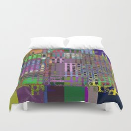 Pastel Playtime - Abstract, geometric, textured, pastel themed artwork Duvet Cover