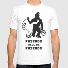 FRIENDS SMALL White Mens Fitted Tee