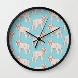 Cute Schnauzer Pattern Wall Clock