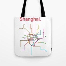 Shanghai Transit Map Tote Bag