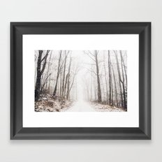 Winter path #photography #society6 Framed Art Print