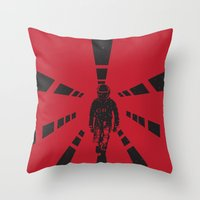 2001 a space odyssey Throw Pillows featuring 2001 by Geminianum