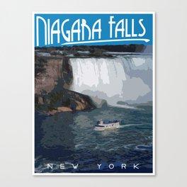 Art-Deco Style Niagara Falls Poster Canvas Print