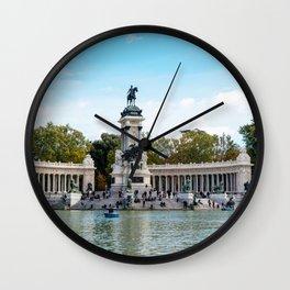 Buen Retiro Park in Madrid, Spain Wall Clock
