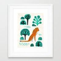 jaguar Framed Art Prints featuring  Jaguar by Hui_Yuan-Chang