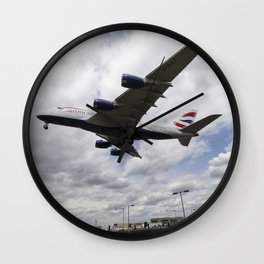 British Airways A380 Heathrow Airport Wall Clock