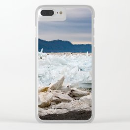 Blue Ice Clear iPhone Case