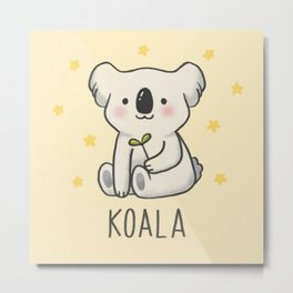 SAVE THE  KOALA Metal Print