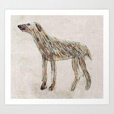 Paddy the Wolfhound Art Print