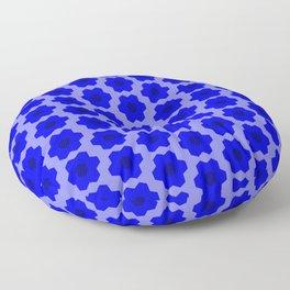 Floral No. 2 -- Blue Floor Pillow