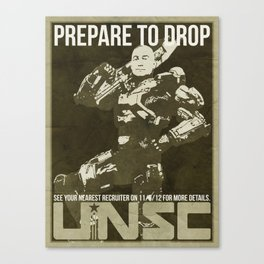 Halo 4 UNSC Old Fashioned Recruitment Poster Canvas Print