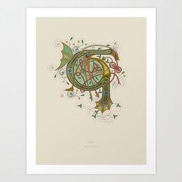 Celtic Initial G Art Print