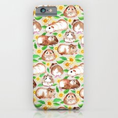 Guinea Pigs and Daisies in Watercolor Slim Case iPhone 6s
