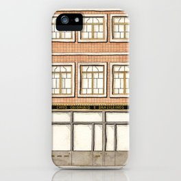 vintage house and store iPhone Case