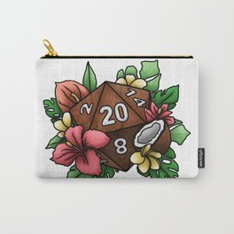 Tropical D20 Tabletop RPG Gaming Dice Carry-All Pouch