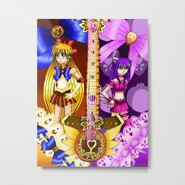 Sailor Mew Guitar #26 - Sailor Venus & Mew Zakuro Metal Print