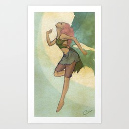 A Curious Fairy Art Print