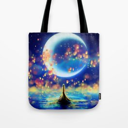 STARRY NIGHT MERMAID Tote Bag