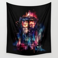 tardis Wall Tapestries featuring All of Time and Space by Alice X. Zhang