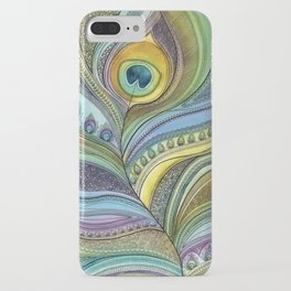 Intricate Peacock Feather iPhone Case