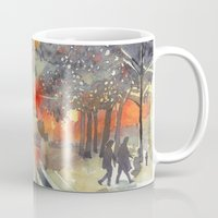 takmaj Mugs featuring WINTER IN THE CITY by takmaj
