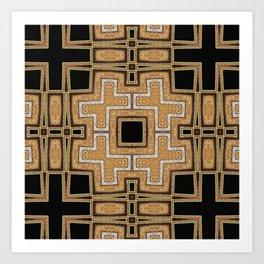 Black Gold Geometry Art Print