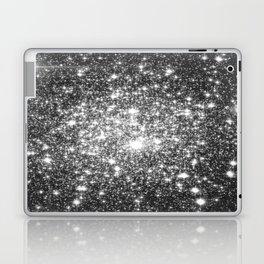 Black Slate Sparkle Stars Laptop & iPad Skin
