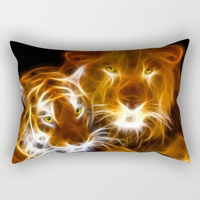 tiger lion  Rectangular Pillow