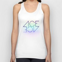 ace Tank Tops featuring Ace Ace by Covered In Moons
