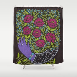 I Picked You These Flowers Shower Curtain