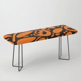 Beautiful Orange Otomi Bench