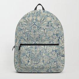 William Morris Vintage Sunflower Blue Slate & Vellum Backpack