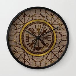 Vegvisir. The Magic Navigation Viking Compass Wall Clock
