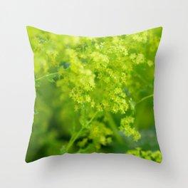 Happy yellow Throw Pillow
